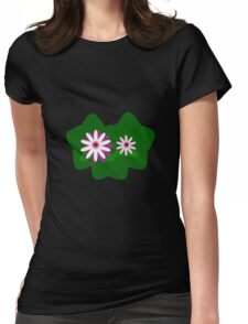 Day-Flowers Womens Fitted T-Shirt