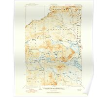 Maine USGS Historical Map Attean 460124 1925 62500 Poster
