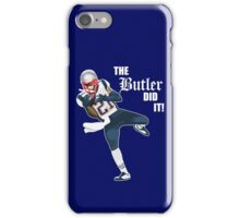 New England Patriots - Malcolm Butler 'The Butler Did It!' iPhone Case/Skin