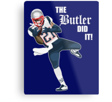 New England Patriots - Malcolm Butler 'The Butler Did It!' Metal Print