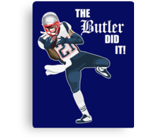 New England Patriots - Malcolm Butler 'The Butler Did It!' Canvas Print