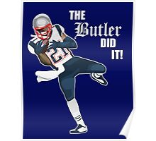 New England Patriots - Malcolm Butler 'The Butler Did It!' Poster