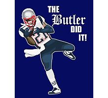 New England Patriots - Malcolm Butler 'The Butler Did It!' Photographic Print