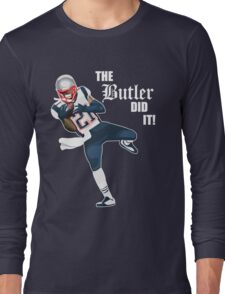 New England Patriots - Malcolm Butler 'The Butler Did It!' Long Sleeve T-Shirt