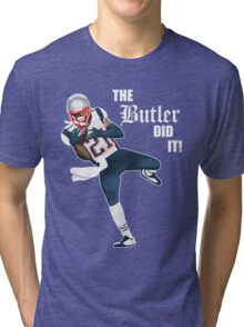 New England Patriots - Malcolm Butler 'The Butler Did It!' Tri-blend T-Shirt