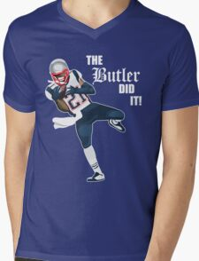 New England Patriots - Malcolm Butler 'The Butler Did It!' Mens V-Neck T-Shirt