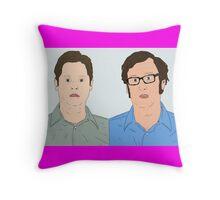 Tim and Eric Throw Pillow