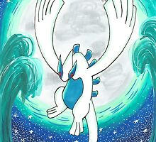 Lugia, the Guardian of the Seas by pokecindy
