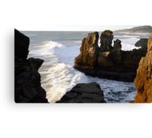 Pancake Rocks...Punakaiki, New Zealand Canvas Print