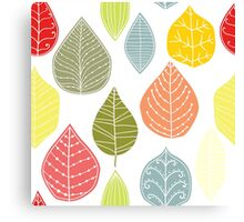 Colorful Abstract Leafs Pattern Canvas Print