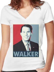 Scott Walker 2016 Women's Fitted V-Neck T-Shirt