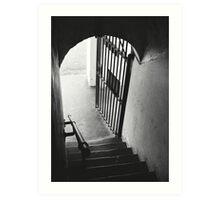Old Gaol Stairs Art Print
