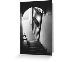 Old Gaol Stairs Greeting Card