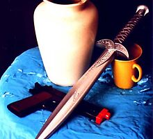 Still Life with Dagger. by Durlabh  Singh