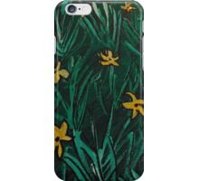 Yellow Flowers  Green Grass iPhone Case/Skin