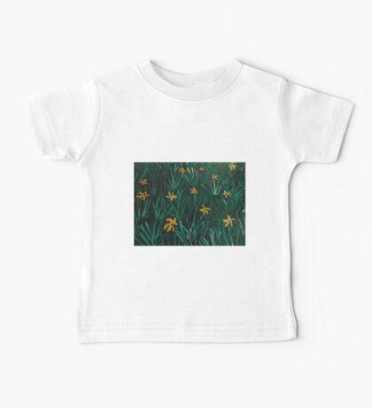 Yellow Flowers  Green Grass Baby Tee