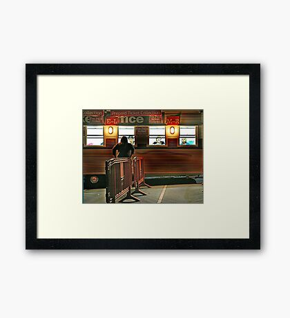 Waiting for Collection Framed Print