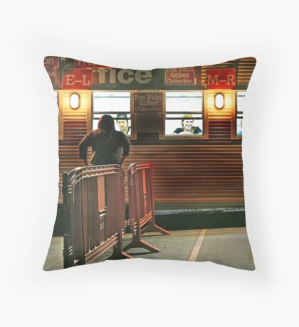 Waiting for Collection Throw Pillow