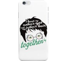 Lily's eyes & James'hair iPhone Case/Skin