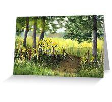Yellow Pasture Greeting Card