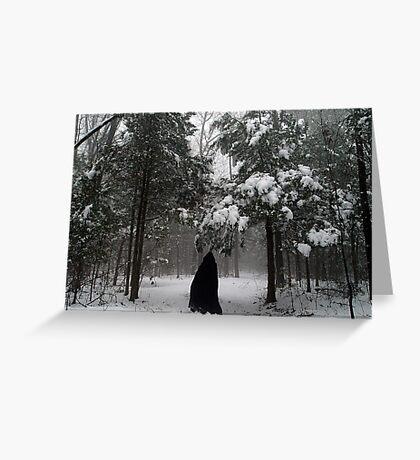 Dark Woods, Dark Traveller Greeting Card
