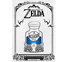 Zelda legend Blue potion Photographic Print