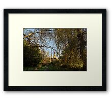 Twyford St. Mary Church from Berry Bridge, Twyford Framed Print