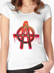 Anarchy Tee  Women's Fitted Scoop T-Shirt