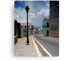 Old San Juan Streets Canvas Print