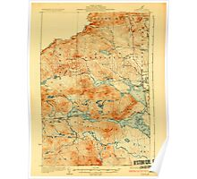 Maine USGS Historical Map Attean 807347 1925 62500 Poster