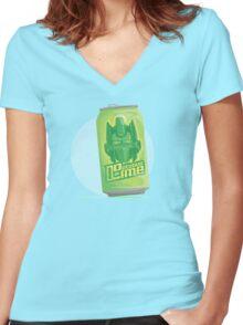 Optimus Lime Women's Fitted V-Neck T-Shirt