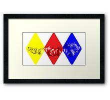 Coloured Smoke Diamonds Framed Print