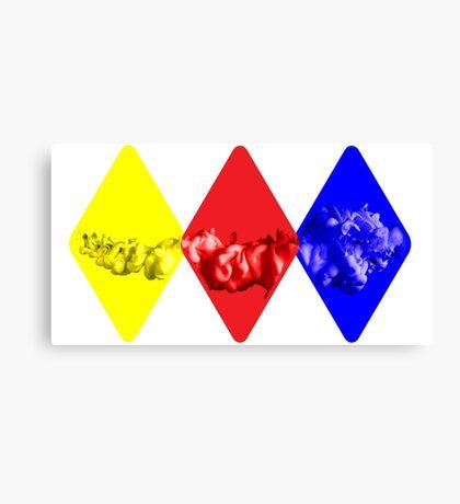 Coloured Smoke Diamonds Canvas Print