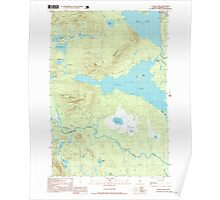 Maine USGS Historical Map Attean Pond 104879 1997 24000 Poster