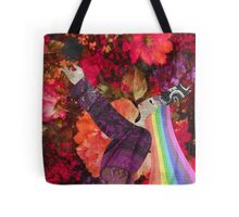 Rainbow Queen of Clubs Tote Bag