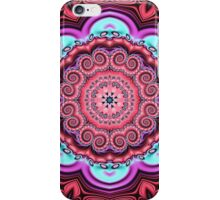 Floral kaleidoscope with fantasy flower iPhone Case/Skin