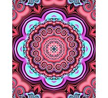 Floral kaleidoscope with fantasy flower Photographic Print