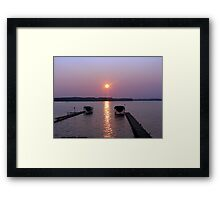 After a Day on the Lake Framed Print
