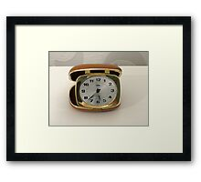To Tick Or Not To Tick? Vintage Travel Clock Framed Print