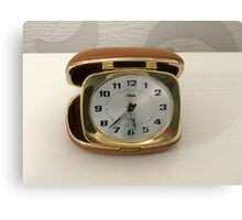 To Tick Or Not To Tick? Vintage Travel Clock Canvas Print