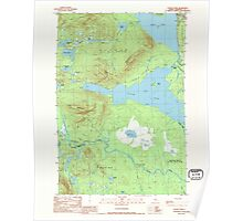 Maine USGS Historical Map Attean Pond 807763 1989 24000 Poster