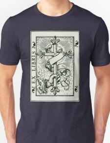 Ex Libris Cross Banner & Fleur De Lys T-Shirt