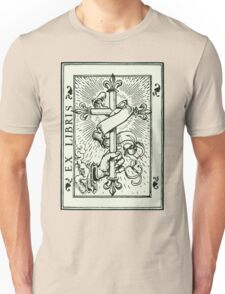 Ex Libris Cross Banner & Fleur De Lys Unisex T-Shirt