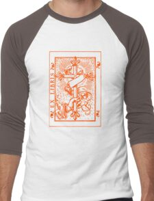 Cross Banner & Fleur De Lys Men's Baseball ¾ T-Shirt