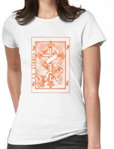 Cross Banner & Fleur De Lys Womens Fitted T-Shirt