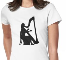 Harp player Womens Fitted T-Shirt