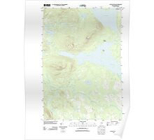 Maine USGS Historical Map Attean Pond 20110910 TM Poster