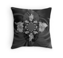 Daffodil and Fly Polar Inversion Throw Pillow