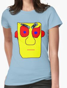 Yellow Face Womens Fitted T-Shirt
