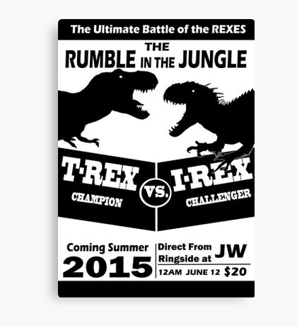 The Rumble in the Jungle Canvas Print